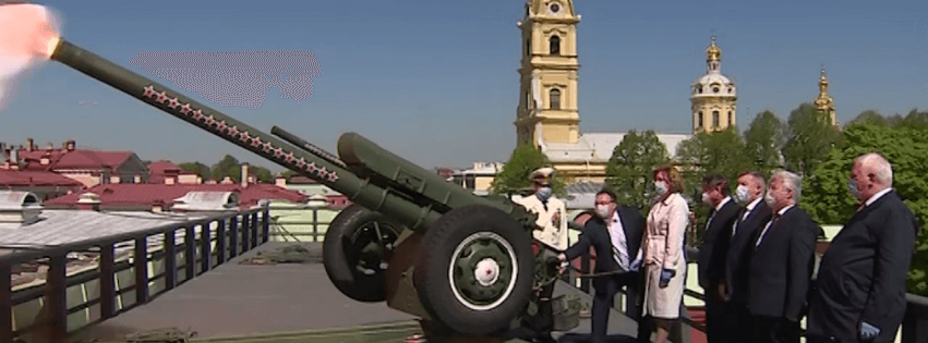 пушка Нарышкина бастиона Петропавловской крепости СПб