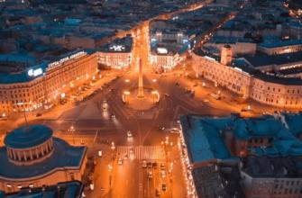 СПб ночь, обелиск Городу-герою Ленинграду